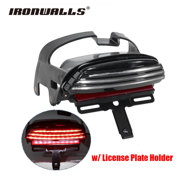 Ironwalls motorcycle tri bar tail light led fender brake 12v rear ironwalls motorcycle tri bar tail light led fender brake 12v rear license plate holder for harley audiocablefo