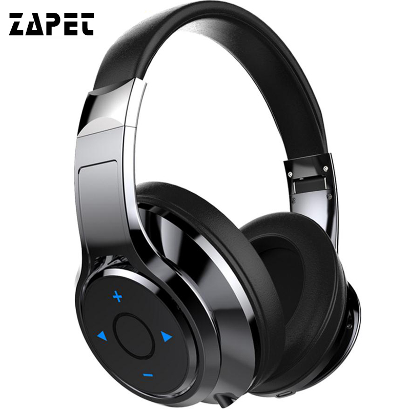 ZAPET B22 Bluetooth Headphones Stereo Bass Headset Wireless Over-ear Comfortable Earphone with MIC Headphones for xiaomi iphone boas over ear bluetooth headphone wireless rotary stereo comfortable handfree headset aux earphone with mic for iphone xiaomi pc