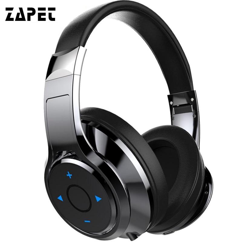 ZAPET B22 Bluetooth Headphones Stereo Bass Headset Wireless Over-ear Comfortable Earphone with MIC Headphones for xiaomi iphone original rosity v8 bluetooth stereo headphones wireless bluetooth 4 0 headset on the ear headphone for iphone xiaomi