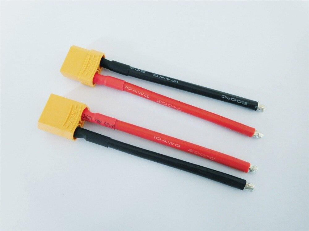 XT90 косичка Мужской Женский Соединительный кабель XT-90 вилка с кремниевым проводом 10AWG 10 см для RC Хобби батарея FPV