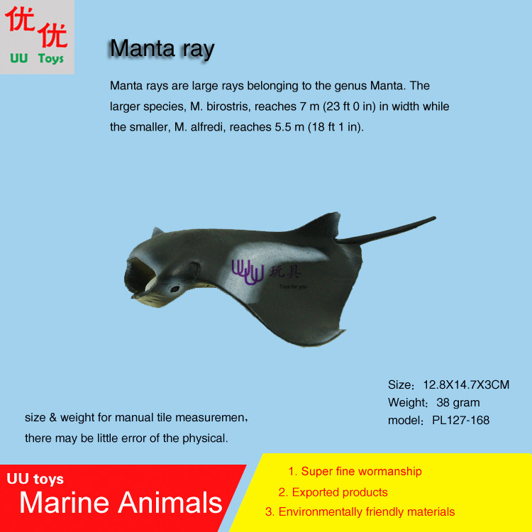 Hot toys Manta ray Simulation model Marine Animals Sea Animal kids gift educational props (Mobula,Mobulidae) Action Figures easyway sea life gray shark great white shark simulation animal model action figures toys educational collection gift for kids