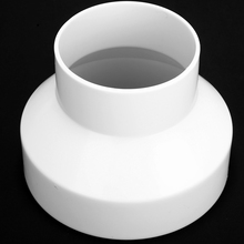 New White ABS Ventilation Pipe Reducer / Pipeline Joint Adaptor PVC Connector 150mm to 100mm