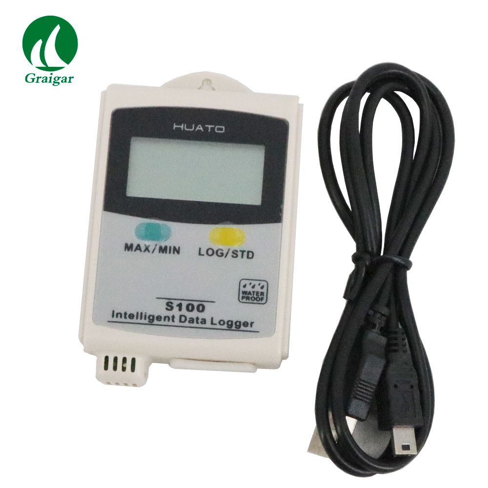 Mini USB interface Temperature Humidity Data Logger S100 TH with LCD Display Dataloggers Recorder Interna Sensor