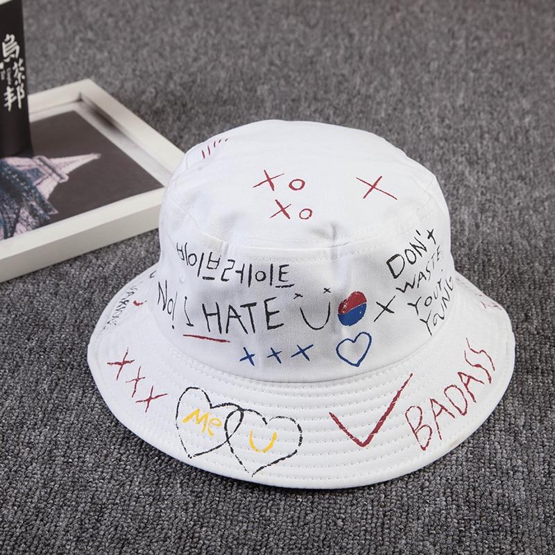 f94111aa Unisex Harajuku Bucket Hat Fishing Outdoor Hip Hop Cap Men's Summer For  Fisherman Hat Women 2018