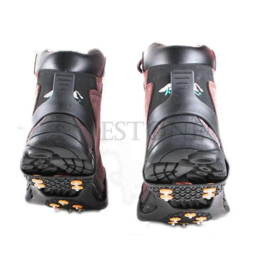 THINKTHENDO Good Quality Non-slip Cleats Anti-Slip Overshoes Studded Snow Ice Traction Shoe Spike Covers thinkthendo 8 teeth useful climb ice snow magic spike anti slip shoe grips crampons footwear d3793