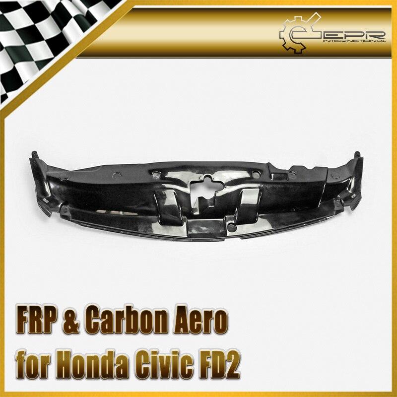 Car-styling FRP Fiber Glass Cooling Slam Panel Fiberglass Finish Engine Cover Body Kit Auto Racing Accessories For Civic FD2 цена