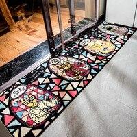 แฟชั่นการ์ตูนคนแมวห้องครัวห้องนอนโซฟายาวพรมการคุ้มครองสิ่งแวดล้อมลื่นห้องนั่งเล่นพรมป...