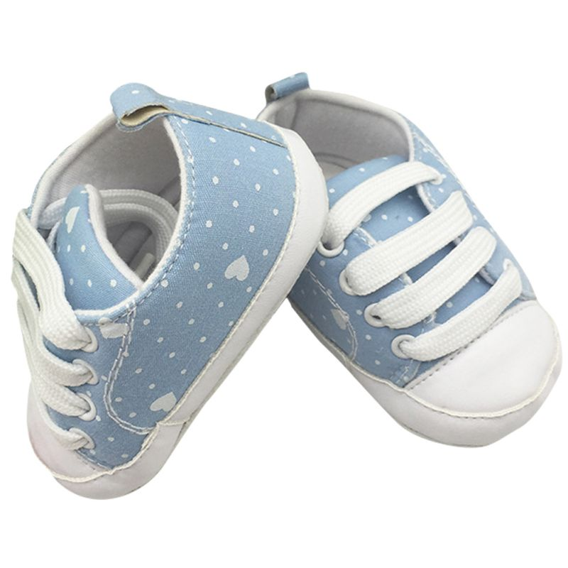 Autum Infants Baby Boy Girls Shoes Soft Solid Crib Shoes Laces Up Canvas Sneaker Boots 0-12M