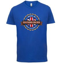 Made In SOUTHEND-ON-SEA Mens T-Shirt - Town / City 13 Colours Print T Shirt Short Sleeve Hot Tops Tshirt Homme