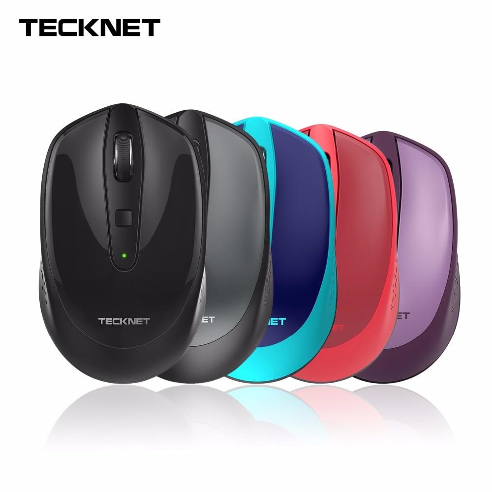 Souris sans fil TeckNet Omni Mini 2.4G, autonomie de 18 mois, 3 niveaux de DPI ajustables: 2000/1500/1000 DPI, nano-récepteur