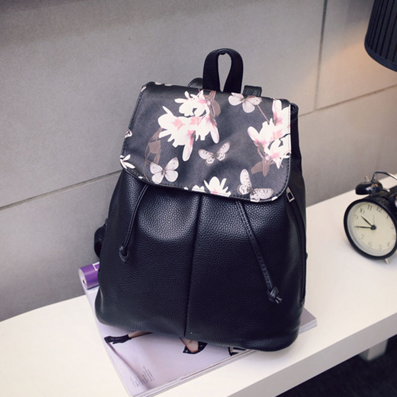 Simple Fashion Women Backpack Leather Drawstring Travel Shoulder Bags Ladies Girls Students School Bag Big Capacity New
