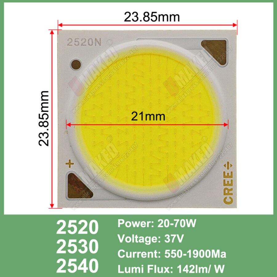 Image 5 - 10 قطعة Cree CXA الأصلي 10 واط CXA1304 15 واط CXA1507 24 واط CXA1512 65 واط CXA2530 الباردة/الدافئة الأبيض 5000 كيلو ، 3000 كيلو COB Led XLamp رقاقة ضوءحبات الإضاءة   -