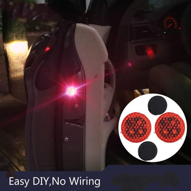 2 stks Autodeur Verlichting LED Waarschuwingslampje Signaal Anti ...