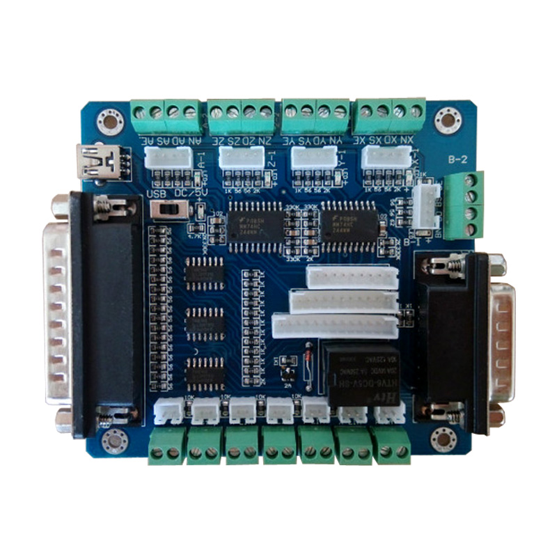 Mach3 5axis USB Breakout Driver Board CNC router machine Single Stepper Motor Driver Controller tengying l298n motor driver board for raspberry pi red