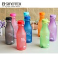 Portable Water Bottle 550mL High Quality Plastic Frosted Leak-proof Cup for Outdoor Sports Running Camping 1PCS/Lot