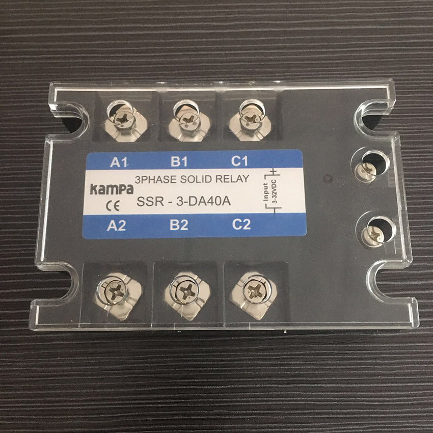 TSR-40DA SSR 40DA Three Phase Solid State Relay DC to AC Input 3-32VDC Load 24-480VAC 3
