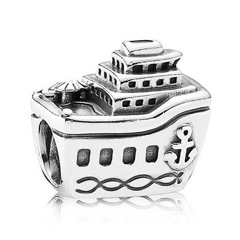 Authentische 925 Sterling Silber Perle Charme Vintage Cruise Schiff Alle An Bord Perlen Fit Pandora Armband Armreif Diy Schmuck