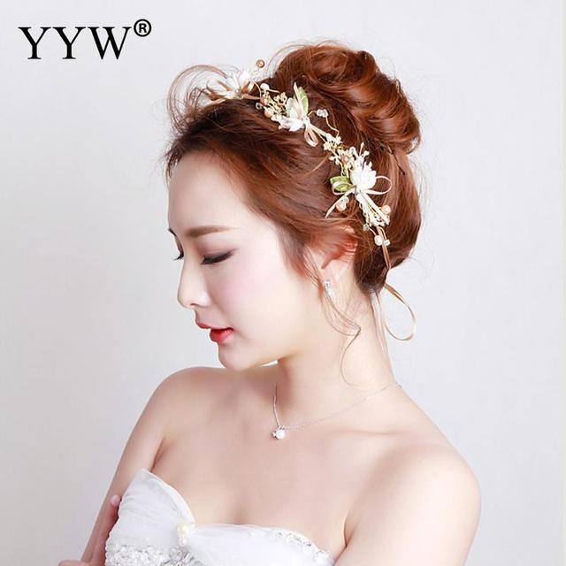 New Arrival Plant Pageant Multicolor Flower Crown Bridal Hair Accessories  Luxury Wedding Bridal Bridesmaids Hair Bands Jewelry 6e6f8a3cb4e