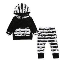 Baby Boy Halloween Skull Hoodie Pant Set