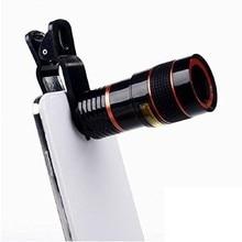 1 шт. универсальный 8-кратный оптический зум телескоп объектив камеры для iPhone мобильный телефон объектив с зажимом для смартфонов samsung Xiaomi