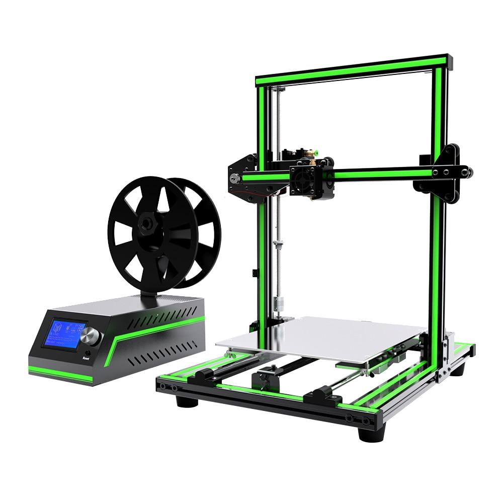 Anet E12 E10 FDM 3D Printer DIY Kit Partially Assembled Aluminum Alloy Frame Plus Size 300*300*400mm Large 3D Printing Filament