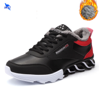 Warm Fur Spring Winter Waterproof Men Running Shoes Thermal Walking Jogging Boots Outdoor Sports Trail Run Sneakers Size 39 44