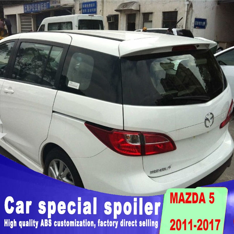 5 spoiler for 2011 to 2017 high quality ABS material installation Mazda 5 spoilers by primer or black white spoilers