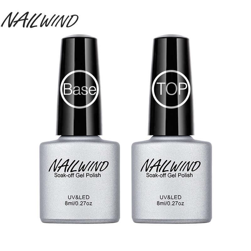 NAILWIND-Gel sellador para uñas, esmalte para capa Base y superior, esmalte de uñas semipermanente UV de larga duración, 8ML