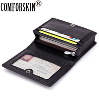 New Brand Genuine Leather Kinting Style Credit Card Holders Sheepskin Card Holder 5 Color Factory Price