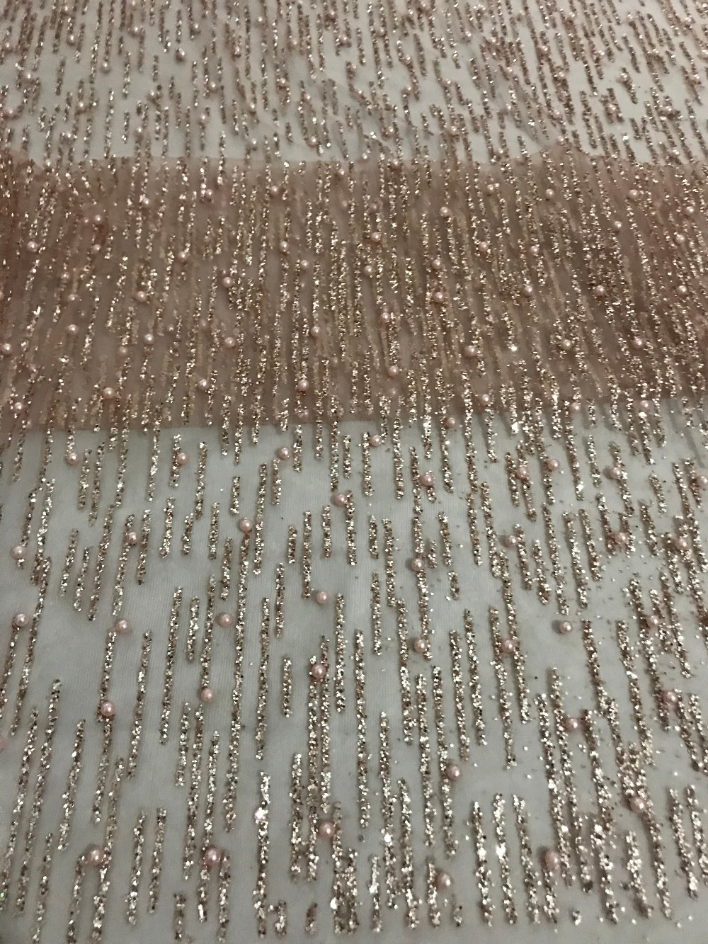 high quality ZH 52511 African French net tulle Lace Fabric for party Hot selling beaded glued