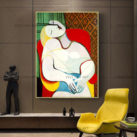 100% Handmade Picasso Dreaming Woman Abstract Canvas Painting Art Wall Pictures For Living Room Home Decor