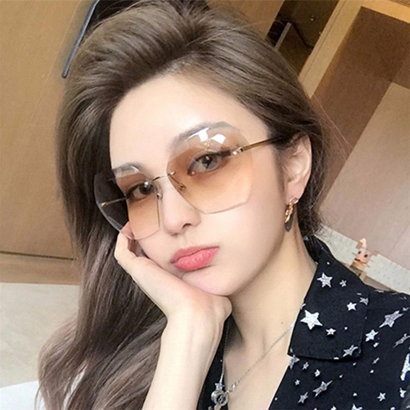 Rimless Sunglasses For Womens