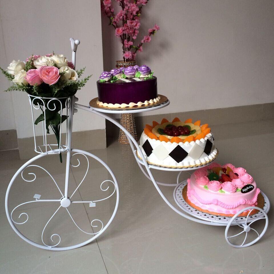 New Novelty Bike Three Layer Cake Wedding Birthday Multilayer