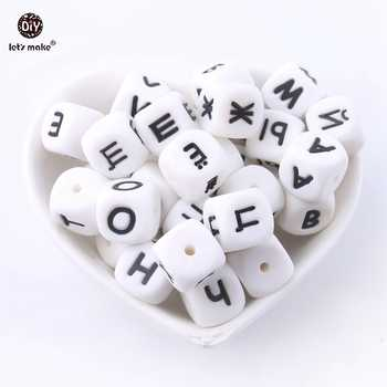 Let\'s Make Silicone Russian Alphabet Letter Cube 500pc 28Letters Food Grade Silicone Beads DIY Teething Necklace Baby Teether - DISCOUNT ITEM  10 OFF Mother & Kids