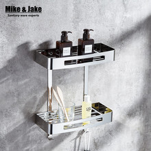Acier inoxydable 304 salle de bains étagère d'angle salle de douche rack pour le lavage du corps bouteille de coin toilette table plateau support de support MJ99652