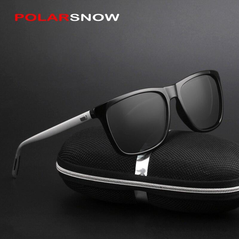Polarsnow Алюминий + TR90 солнцезащитные очки Для мужчин поляризационные  Брендовая Дизайнерская обувь точки Для женщин Для мужчин Винтаж очки  вождения ... 79ba0c70d4cbd