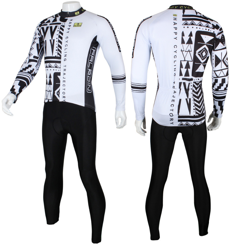 New Free shipping Black Forest Pattern Men Long Sleeve Riding Clothing Size S To 6XL