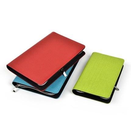 Nieuwe hete 2015 A5 / A6 zakelijke notebook rits tas comercial - Notitieblokken en schrijfblokken bedrukken - Foto 2