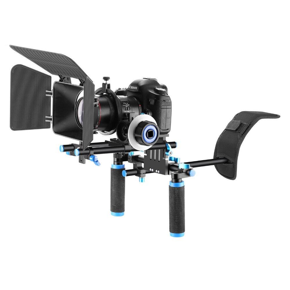 Neewer DSLR Rig Комплект Фильм Комплект Фильм Решений Системы, включает Плечевой Камкордер Следуйте Фокус Матовая Коробка для DSLR Canon/Nikon/Pentax/Olympus/Sony