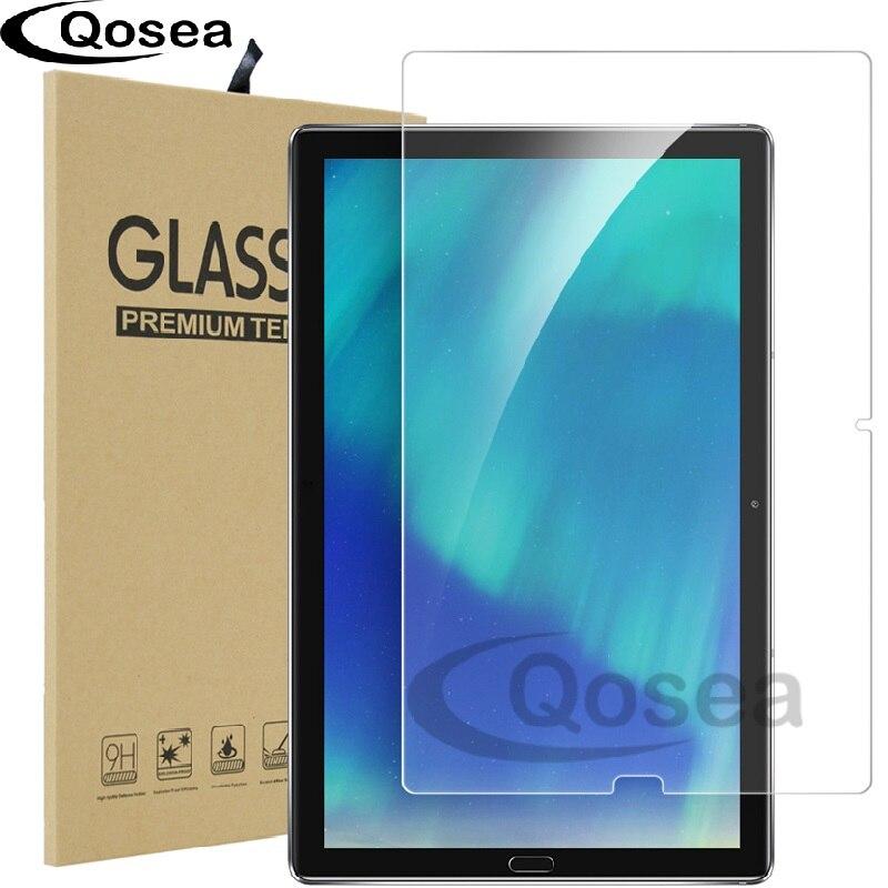 Qosea Pour Huawei MediaPad T5 10 WiFi Table PC Trempé Galss 9 H Ultra Clear Écran Protecteur Film Pour Huawei mediaPad M5 Verre