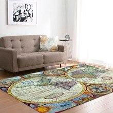 Большой мир карта ковры ковер спальня дети ребенок играть ползающий коврик пены памяти коврики ковер для гостиной дома декоративные