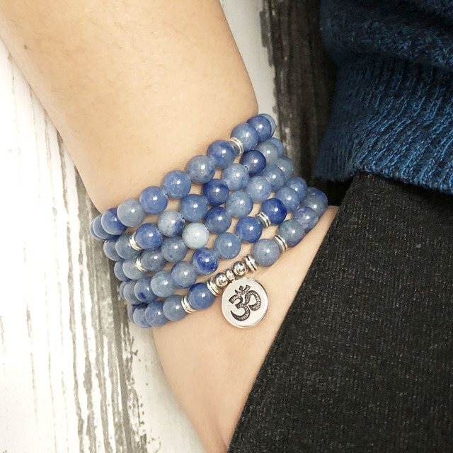 Bracelet Aventurine Bleue
