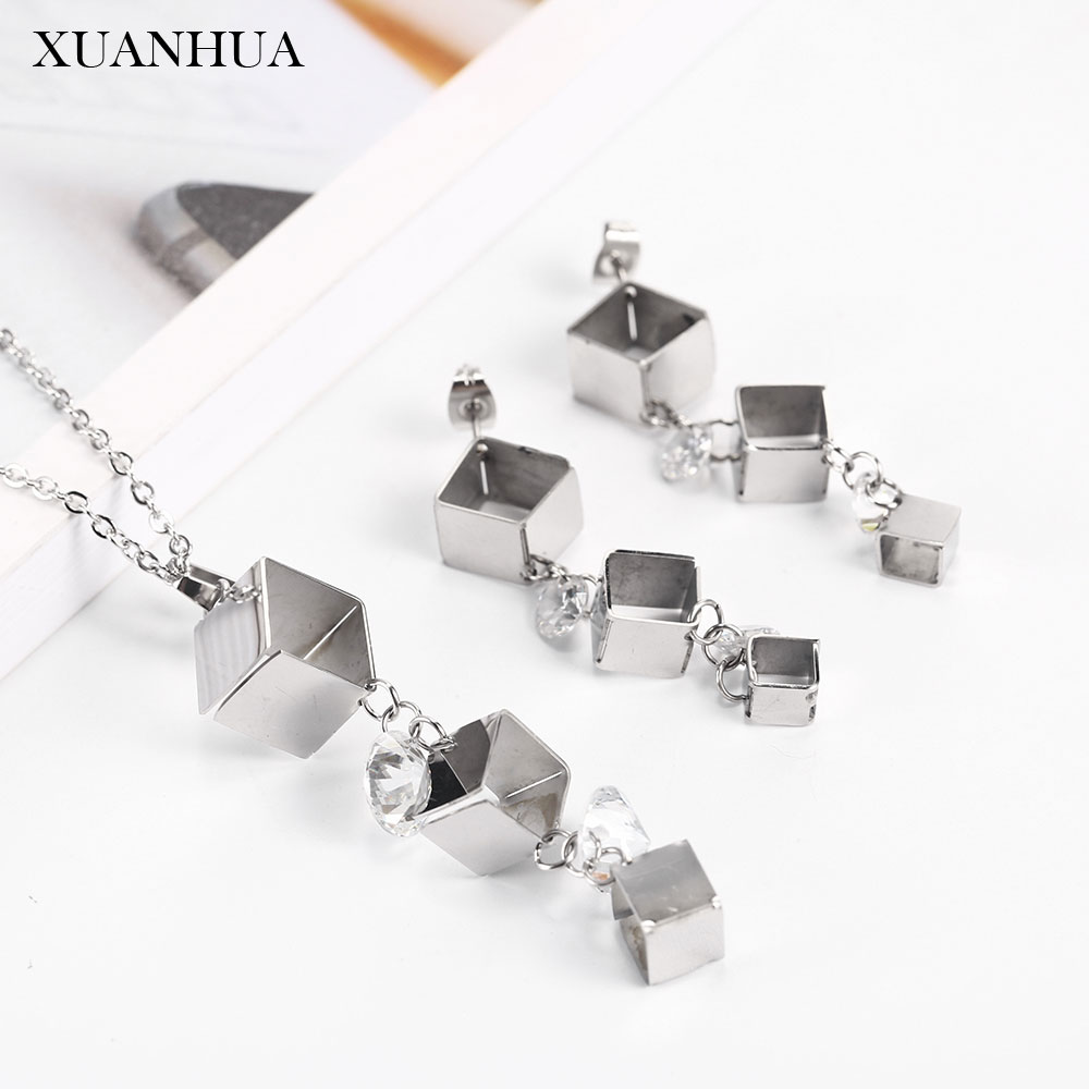 XUANHUA Stainless steel Jewelry Woman set Novelties Fashion Fine Jewelry sets Unusual Goods Womens Jewelry Charm Jewellery sets