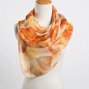 spring and summer women scarf 2018 new pashmina shawl printed cape silk chiffon Polyester tippet muffler