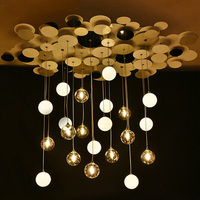 T Nordic Style Living Room Bubble Pendant Light Glass metal lamp For Dining Room Coffee Shop Hotel Creative Hall Lamp led
