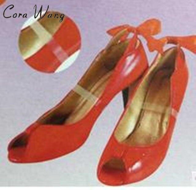 1 PAIR  No-slip Elastic Shoe Laces Solid Shoe Straps / Shoe Band for loose Shoes Accessories ASL679A