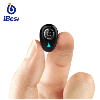 IBESI S650 Mini Bluetooth Earphone Wireless Headphone In-Ear Invisible Earbuds Handsfree Headset Stereo with Mic for Phone