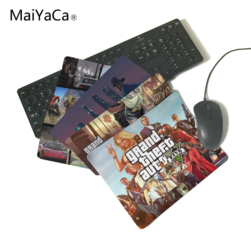 MaiYaCa GTA V Grand Theft Auto Grand Theft Auto V Rockstar Games Computer Gaming Mouse Pad Gamer Play Mats цена