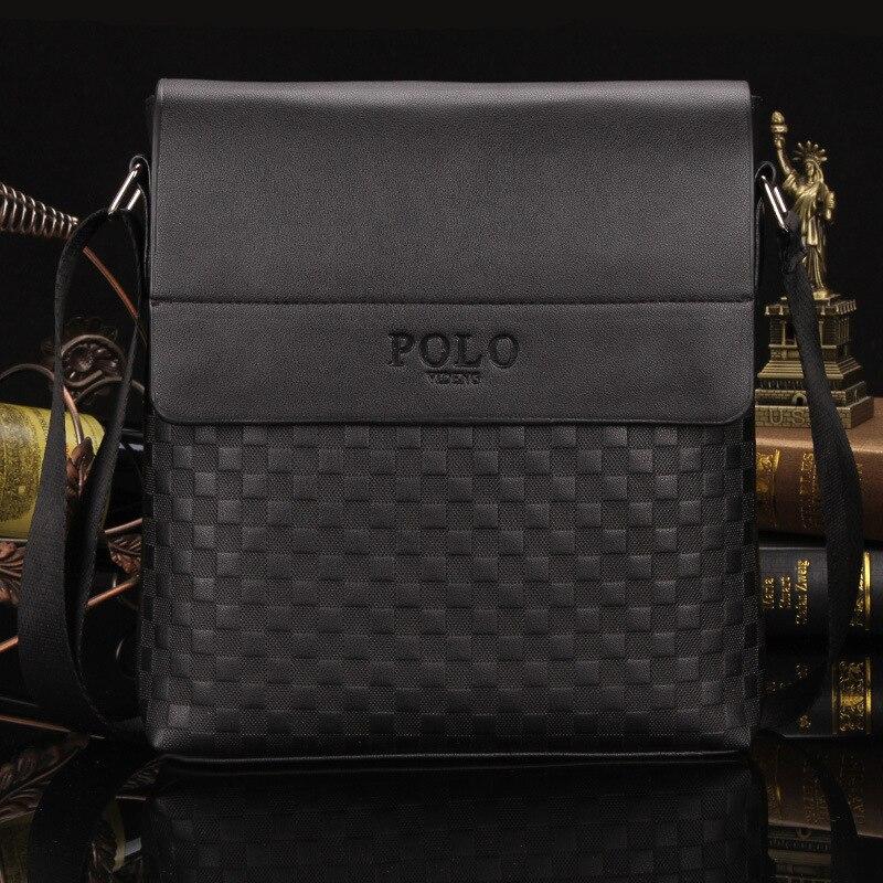 Maletín de lujo Plaid Polo bolsa bolso mensajero de los hombres bolso de cuero bolsa de negocios crossbody bolsos Bolsos Mujer de marca famosa