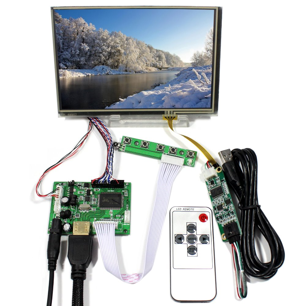 HDMI LCD Controller Board With 7inch N070ICG-LD1 1280x800 IPS LCD Screen With Touch Panel hdmi vga 2av lcd controller board with 7inch n070icg ld1 39pin reversal1280x800 ips touch lcd